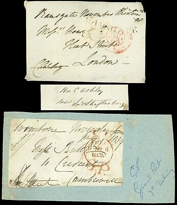 1798,1839 FLS FRONTS, ENGLAND FREE SPECIAL CANCELS! BAMSGATE, G.P. General Post!