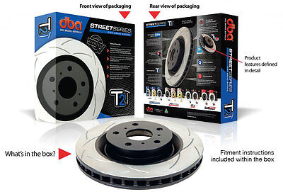 DBA T2 Front Slotted Rotors Set to Holden Commodore VT VU VX VY VZ 296mm DBA040S
