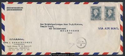 Netherlands Indies 1947 airmail censor cover to Melbourne Australia