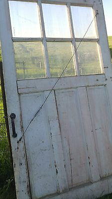 VINTAGE CARRIAGE Barn DOORS PAINTED Yellow with windows set #2