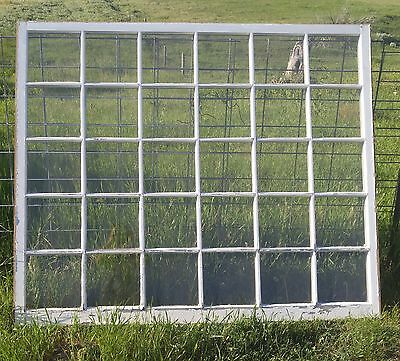 HUGE Vintage Window 30 Pane Architectural Salvage Shabby Primitive Rustic OLD