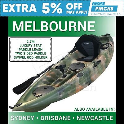Fishing Kayak Single 2017 SOT Kayak Package Melbourne Jungle Camo (5Yr Warranty)
