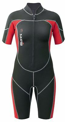 Mares Ladies Womens Mira Shortie Wetsuit - Front Zip Easy Entry - Snorkel Dive