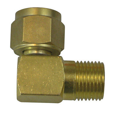 Right angle connector, 5/8-18 RH nut to 5/8-18 RH male (308670)