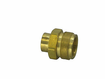 "Connector, MAPP gas torch (CGA600) to 1/4"" NPT female (F-140)"