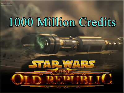 100.000K SWTOR Credits 100M Star Wars The Old Republic alle EU NA Server 100000k