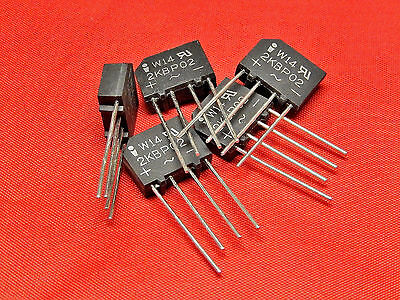 5x BRIDGE RECTIFIER 2AMP 200V INVAC 2KBP02