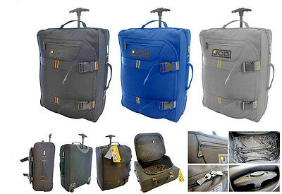 Jcb Lightweight Wheeled Flight Cabin Travel Bag Suitcase Hand Luggage Holdall