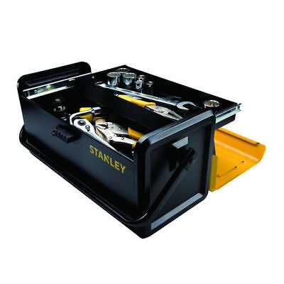 "Stanley 19"" Metal Tool Box w/Auto-Slide Drawer STST19501 NEW"
