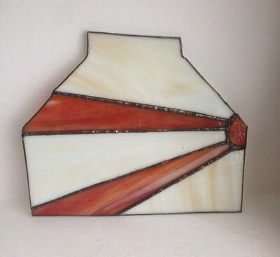 Vintage Art Deco Stained Glass Panel