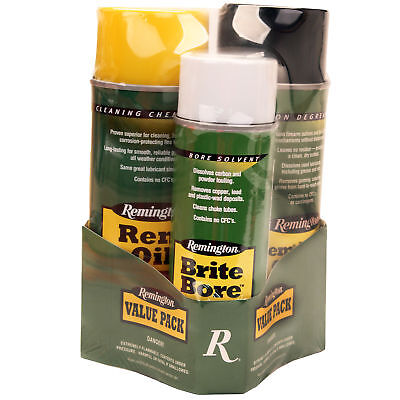 Remington Action Cleaner/Rem Oil Gun Care Brite Bore 10oz. aerosols 3-Pack 18156