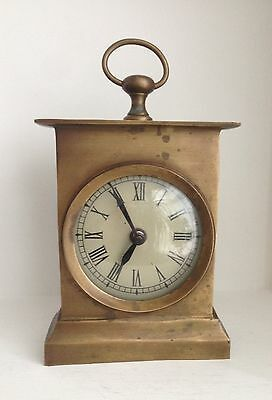 Vintage Heavy Brass Carriage Clock
