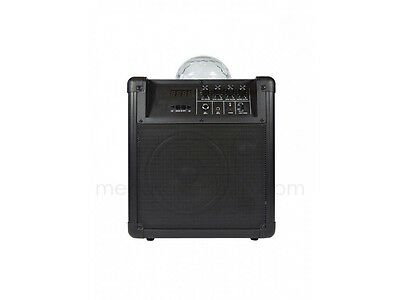 Compact Portable Wireless Loudspeaker Black Built-in Active Amplifier Disco Ball