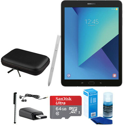 Samsung Galaxy Tab S3 9.7 Inch Tablet w/ S Pen - Silver - Accessory Bundle