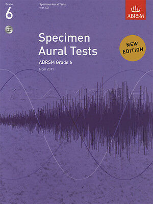 Specimen Aural Tests from 2011 Grade 6 Sheet Music Book with CD ABRSM