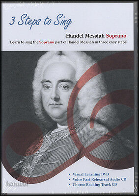 3 Steps To Sing Handel Messiah Soprano DVD/2CD Set Learn to Sing