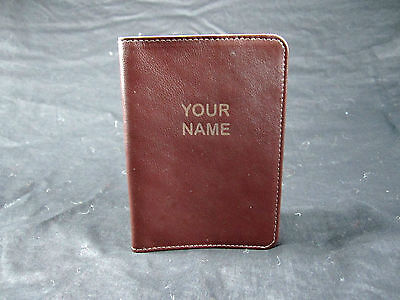 NAME Engraved Custom Sunfish Leather Passport holder / cover