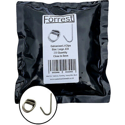 Extra large j-clips 300QTY close to 8mm wire mesh clips gabions fencing
