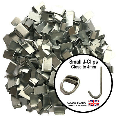 Heavy duty j-clip Aprox 400, fencing, poultry, aviary's, wire mesh, Barbed wire.