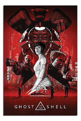Ghost In The Shell Red Poster New - Maxi Size 36 x 24 Inch