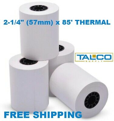 "FD130 2-1/4"" x 85' THERMAL RECEIPT PAPER - 20 NEW ROLLS  ** FREE SHIPPING **"