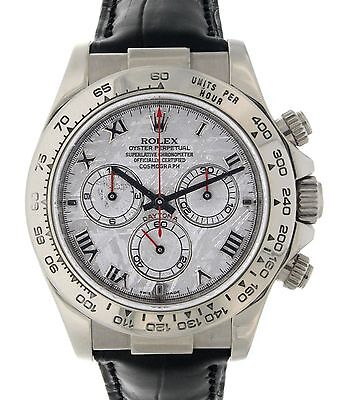 Rolex DAYTONA 116519 WHITE GOLD, METEORITE, LEATHER, 40MM 116519
