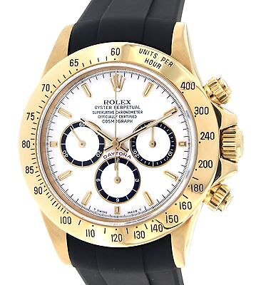 Rolex DAYTONA 16528 YELLOW GOLD, RUBBER, 40MM 16528
