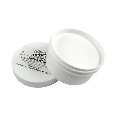 Clown White - Large 7oz. Mehron Makeup Make Up Theater Face Stage Ultra Coverage