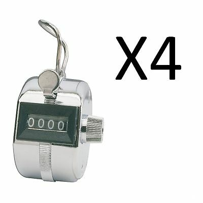 Champion Sports Baseball Pitch Tally Counter Clicker 4 Digit Display (4-Pack)
