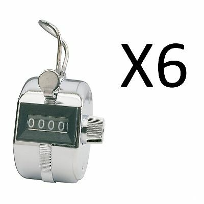 Champion Sports Baseball Pitch Tally Counter Clicker 4 Digit Display (6-Pack)