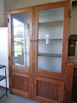 HUGE Antique Jelly Cupboard China Cabinet w/beadboad Estate Buyout DEL. AVAIL.