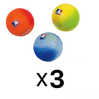 Franklin Sports MLB Heavy Duty Soft Foam Baseballs Kids Youth Ages 4+ (3-Pack)