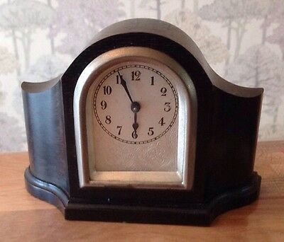 Antique Small Bedside Boudoir Clock Winds Working Keeping Time Elegant Case