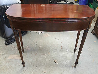 George III Mahogany Fold-Over Card Table c.1820 [3202]
