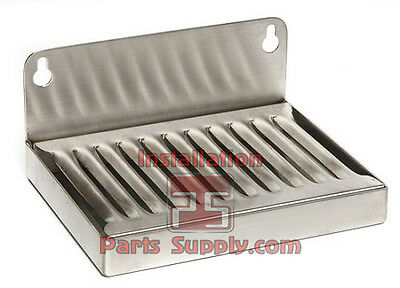 """4"""" x 6"""" Stainless Steel Wall Mount Drip Tray Brew Draft Beer Bar Tap Kegerator"""