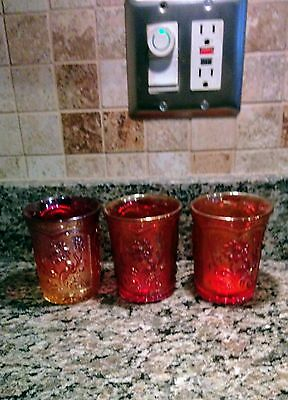 Field Flower Reissue-Imperial Tumblers  In Different Shades Or Red/orange