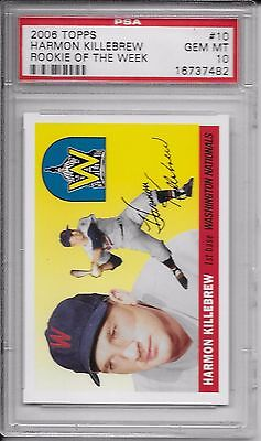 2006 Topps Rookie of the Week #10 HARMON KILLEBREW PSA 10 Gem Mint Pop 9 ROW