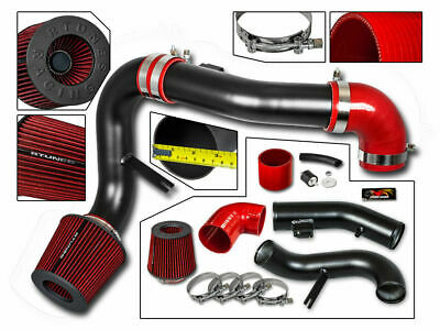 Cold Air Intake Kit MATT BLACK + RED Filter For 05-08 Cobalt 2.4L L4 LT LS Sport
