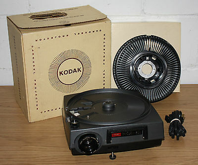 Vintage Kodak Carousel 600 Slide Projector, Working Bulb and Original Box