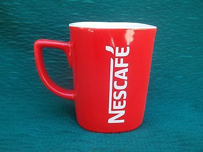 """NESCAFE COFFEE Mug / Cup NEW RED  3.5"""" Tall Nestle RARE Collectors item"""