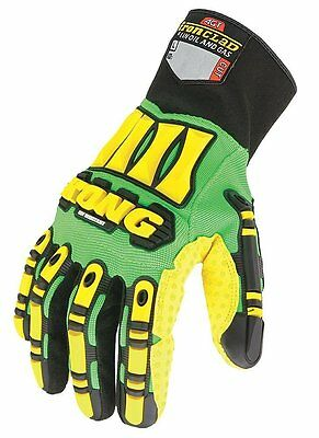 KONG Hi Vis Cut Resistant Impact Protection Gloves * Oil and Gas * Medium  & XXL
