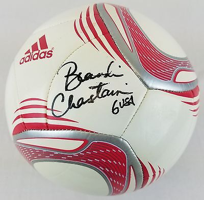 """Brandi Chastain """"6 USA"""" Signed Soccer Ball Authentic Autograph JSA #R56374"""