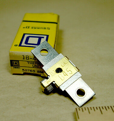 Square D thermal overload relay heater element unit  B45 NIB NOS