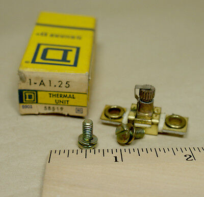 Square D thermal overload relay heater element unit  A1.25 NOS