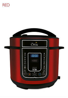 Pressure King Pro 8-in-1 Electric Pressure Cooker, 3 litre, 700 W, Red
