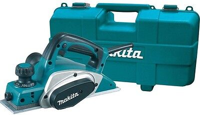 Makita Planer Kit Corded 6.5 Amp 3-1/4 in Powerful Double-edged planing blades