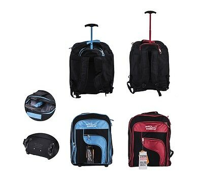 Cabin Flight Approved Backpack Hand Luggage Travel Holdall Wheeled Bag Rucksack