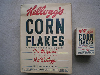 Twin Kellogg's Corn Flakes Cereal Boxes 1942 Complete