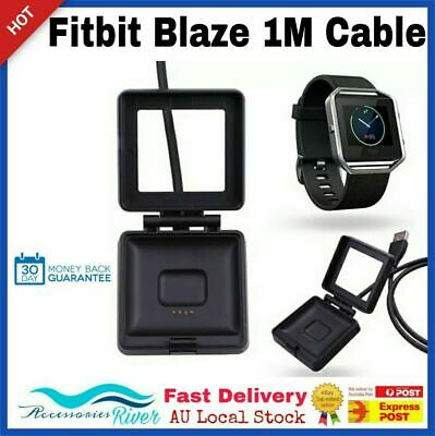 Magnetic Charging Battery Charger Cradle Dock Cable For Fitbit Blaze Smart Watch