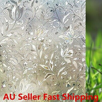 New 3D Non-Adhesive Rabbitgoo Window Films Privacy Film Static Decorative Film
